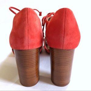 Tahari Shoes - Tahari Megyn coral block heel suede lace bootie